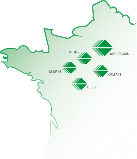 Carte des territoires d'intervention Mistral